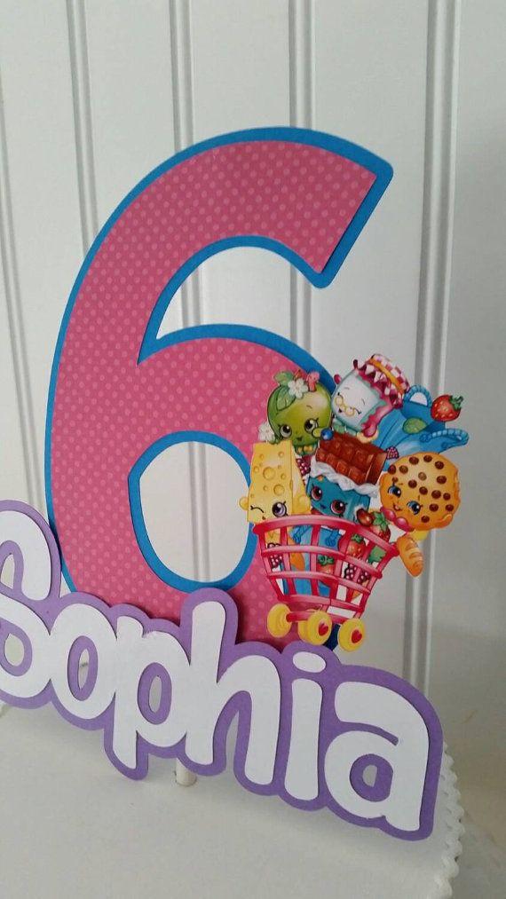 Shopkins Cake Topper shopkins Topper Girl by PaperedAffair on Etsy