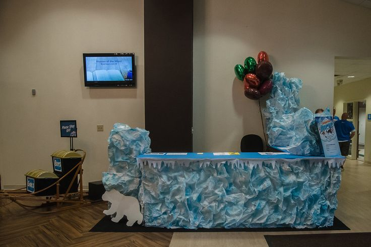 Use Crinkled White Paper Painted Blue To Decorate Your Vbs