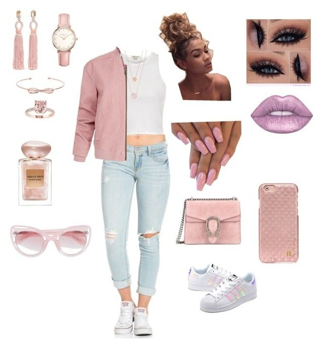 """""""Untitled #59"""" by amber-jaimes on Polyvore featuring adidas Originals, River Island, Helmut Lang, Gucci, Topshop, Michael Kors, Ted Baker, Oscar de la Renta, Lime Crime and Giorgio Armani"""