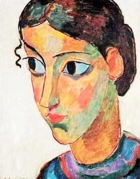 expressionnisme art ◈ alexej jawlensky (head of a girl) (torjok russie I864 † wiesbaden I94I) art moderne portrait painting peinture