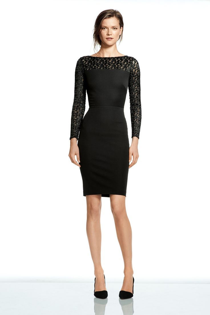 Banana Republic's New Collab Is AMAZE #refinery29  http://www.refinery29.com/roland-mouret-banana-republic-collaboration#slide4   Roland Mouret for Banana Republic Sloan Sheer Leopard Long-Sleeve Dress, $165, available on August 7.