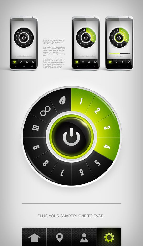 Greenlots app UI | Designer: Higher