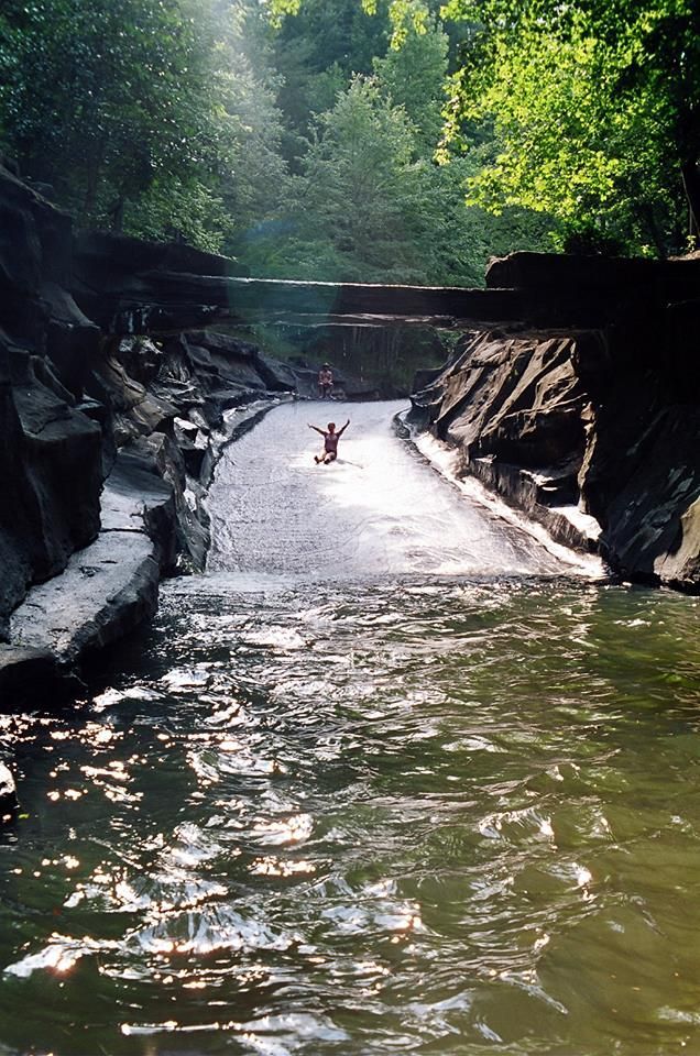 The Rock Slide at Big Canoe in Northern Georgia is a hidden gem for most families.