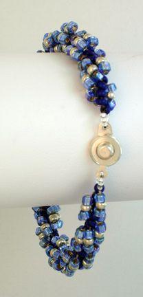 Spiral Bracelet  a beadwork project for beginners