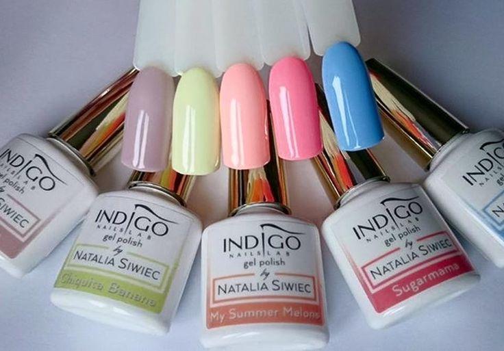 Miami Gel Polish Collection by Natalia Siwiec  by Dorota Minor #nails #nail #pastel #miami #nataliasiwiec #indigo #indigonails #nailsart #summernails
