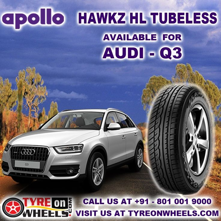 Buy Apollo Hawkz HL Tubeless Car Tyres Online at Guaranteed Low Prices with free shipping across India also get Mobile Tyres Fitting Services at your home now buy at http://www.tyreonwheels.com/car/tyres/Audi/Q3/2.0L-TFSI-Quattro/car_manufact/vm/5/New%20Delhi