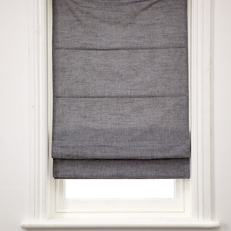 John Lewis Chambray Roman Blinds, Blue Home decor ideas