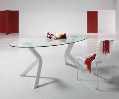Tavoli Sala da Pranzo moderne : Modello VIRGINIA Ovals