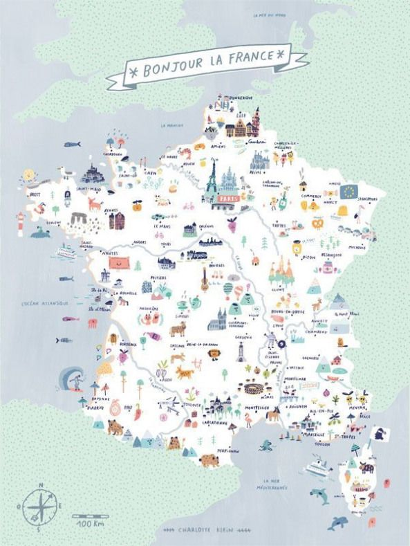 Carte De France Gourmande France Map France Map