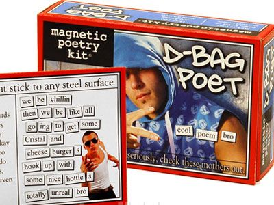 Dbag Magnetic Poetry... Is it bad that there are a few people I wanna buy this for?
