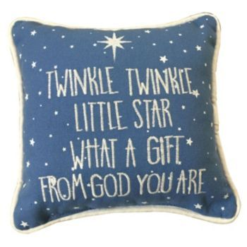 ''Twinkle,+Twinkle+Little+Star''+Embroidered+Small+Throw+Pillow