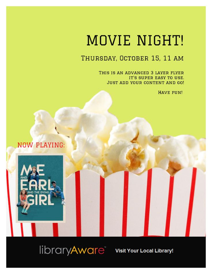Poster Template  Movie Night Poster Template  Poster Template
