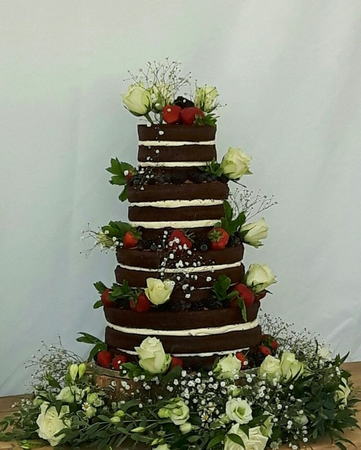 Chocolate Raspberry Naked Cake