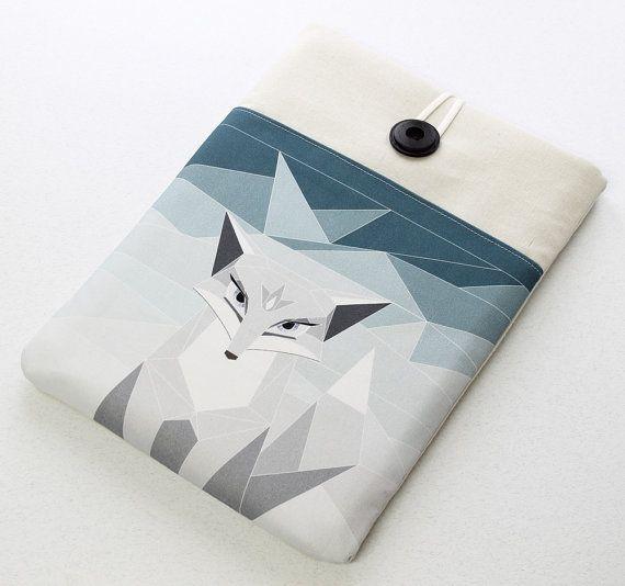 Arctic Fox Macbook Laptop Sleeve Laptop Cover for by StudioPapilio,