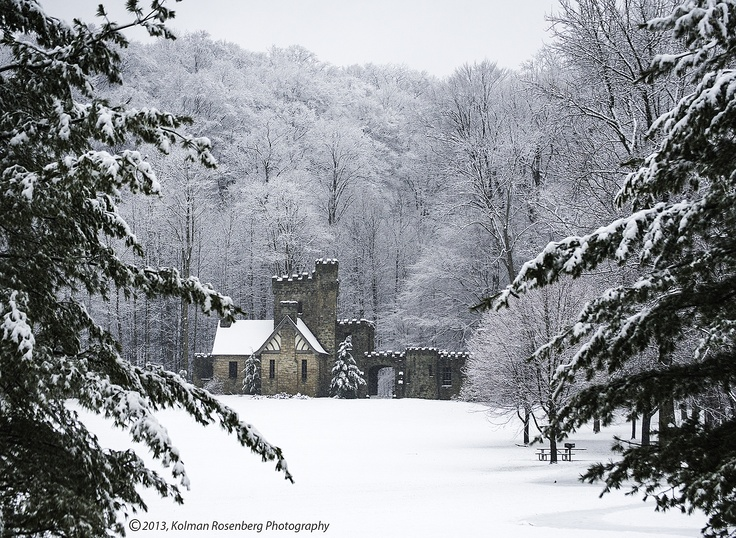 Squires Castle in Winter Garb, North Chagrin Reservation, Cleveland Metroparks, Willoughby Hills, OH 2013  By Kolman Rosenberg