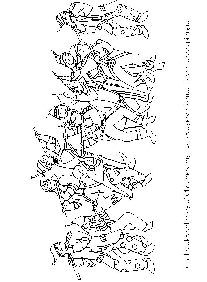 eleven pipers piping coloring book coloring pages