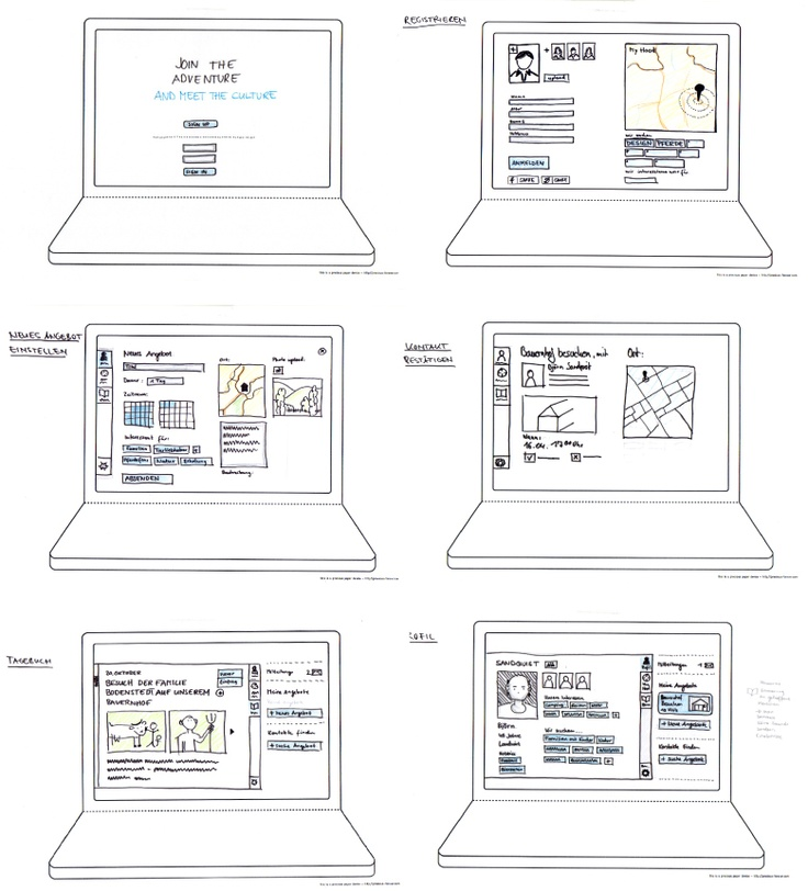 web storyboards