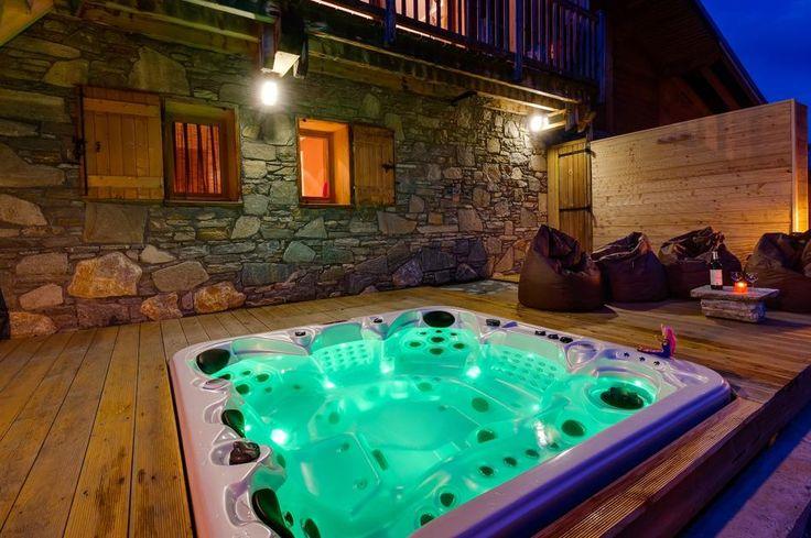 sunken hot tub in the deck