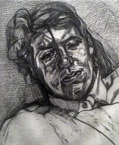 Freud- etching