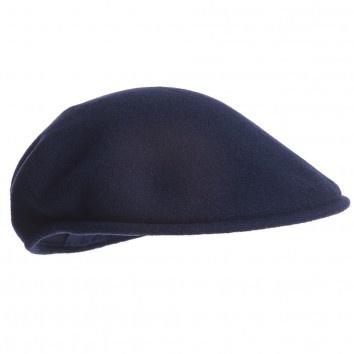 Kangol Dark Blue Felted Wool Flat-Cap at Childrensalon.com