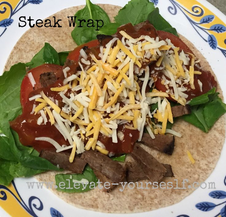 21 Day Fix Approved Steak Wrap - eleVATe yourSELF  A delicious wrap that hits the spot!
