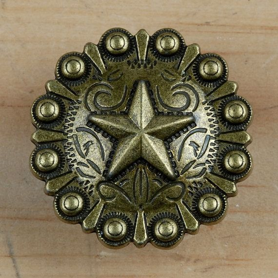 Set of 6 thin rope star drawer pulls or cabinet knobs for Star cabinet pulls