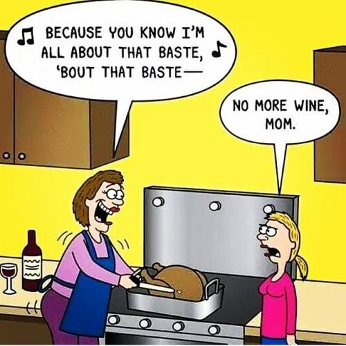 A little pre- #Thanksgiving humor! #lol #baste #allaboutthatbaste @Meghan_Trainor