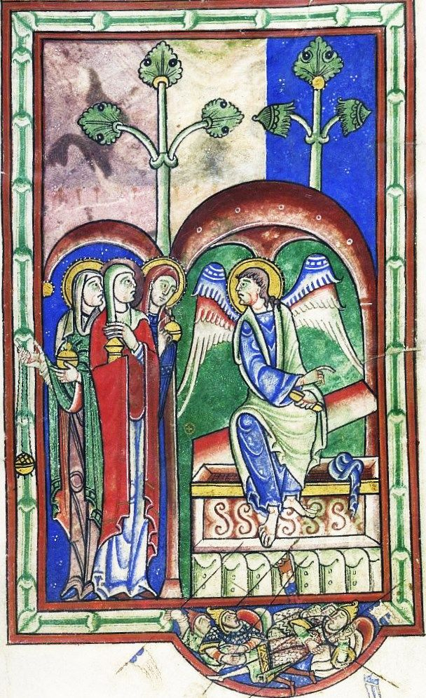 British Library - Lansdowne 383 fol-13 Holy Women at the Empty Tomb
