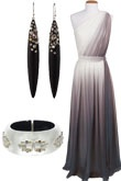 bridesmaid dress, like the ombre gray/silver