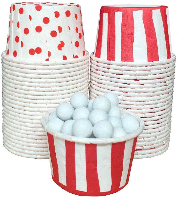 Outside the Box Papers Stripe and Polka Dot Candy Nut Cups 48 Pack Red, White * Visit the image link more details.