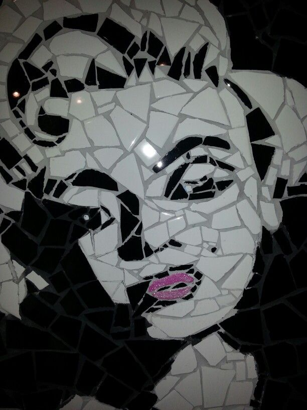 My custom Marilyn Monroe mosaic hand crafted by me