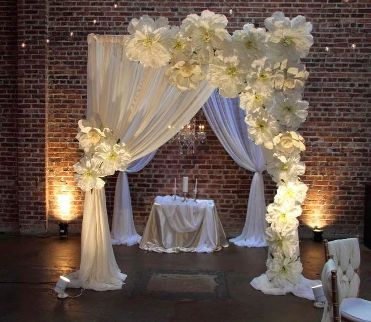 49 best images about decoraciones con flores de papel on - Decoraciones de bodas ...