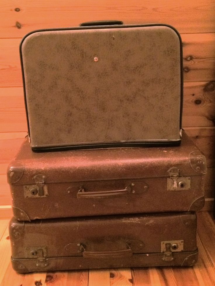 Vintage Suitcases and sewingmachin case