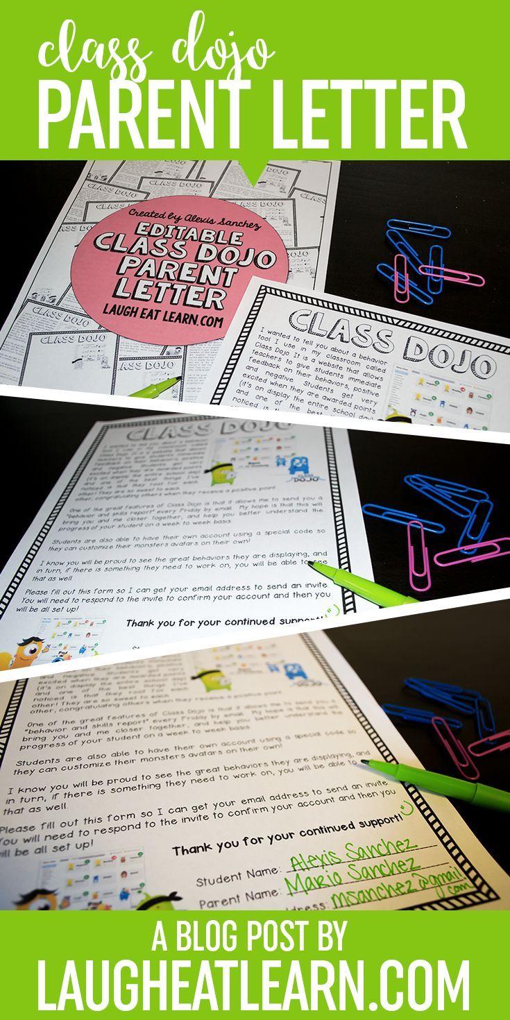 how to make invitation letter for vispurpose%0A Editable Class Dojo Letter Freebie