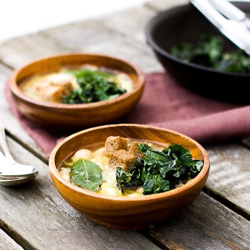An easy to make soup that's delicious and very satisfying no matter the season with the added benefits of kale.