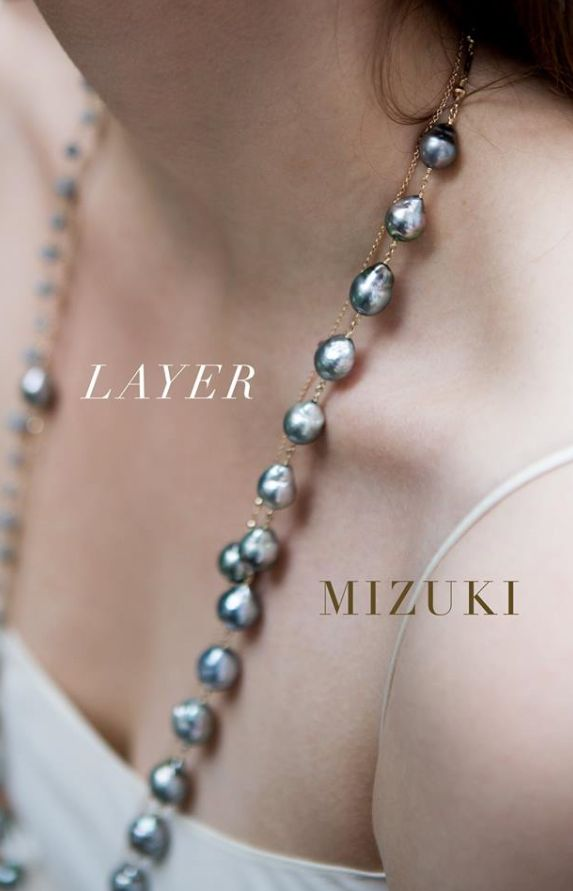 #Layer up your #Tahitian #pearls for #MizukiMonday! Find both pieces Anna Gray