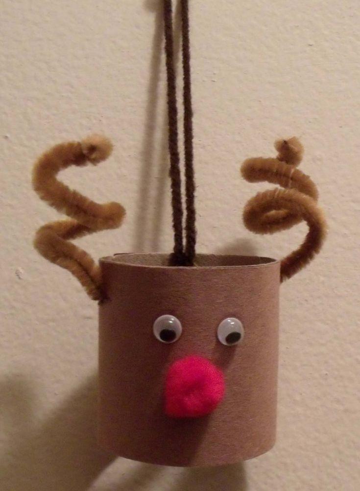 Toilet roll toss clip art   Toilet Paper Roll Reindeer Craft   Art of Toria Mason