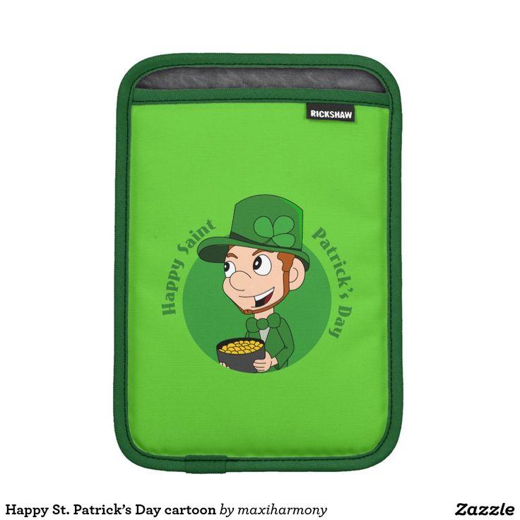 Happy St. Patrick's Day cartoon iPad Mini Sleeves