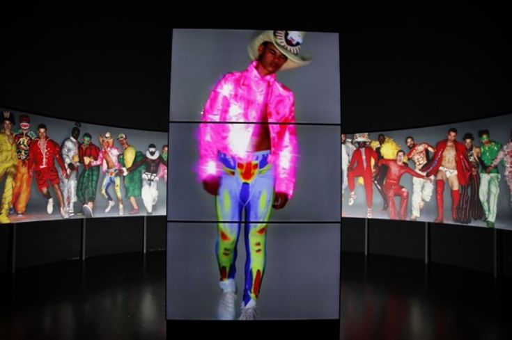 Capturing Nick Knight's image and fashion film in situ as part of the 'Dream The World Awake' exhibition at the Antwerp Fashion Museum