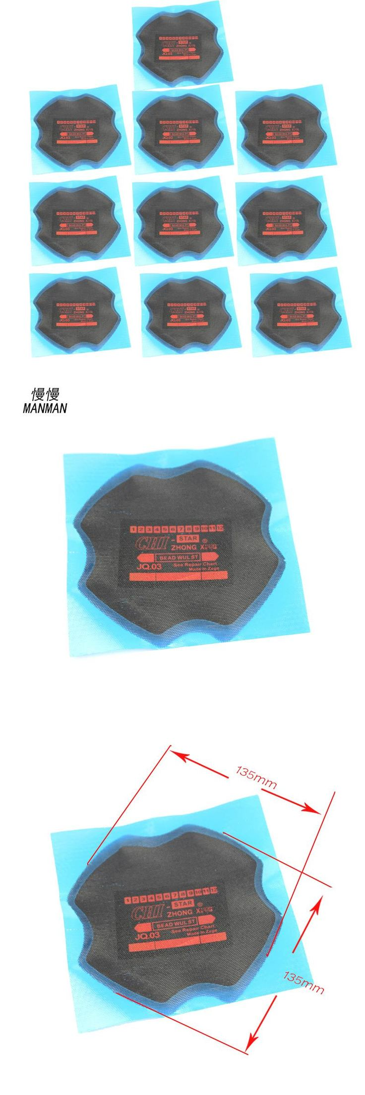 [Visit to Buy] 10 pieces  radial tire Repair cold Patch for car and truck 135 * 135 mm #Advertisement