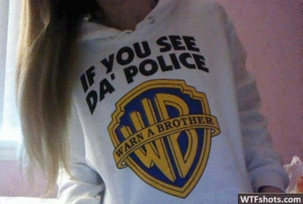 Pretty Girl Swag Outfits | sweater funny shirt swag white if you see da police clothes winter ...