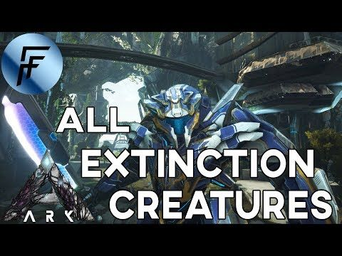 SPAWN ALL EXTINCTION CREATURES ADMIN COMMANDS!!! ARK