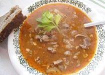 """""""Dršťková"""" polévka z kuřecích žaludků"""