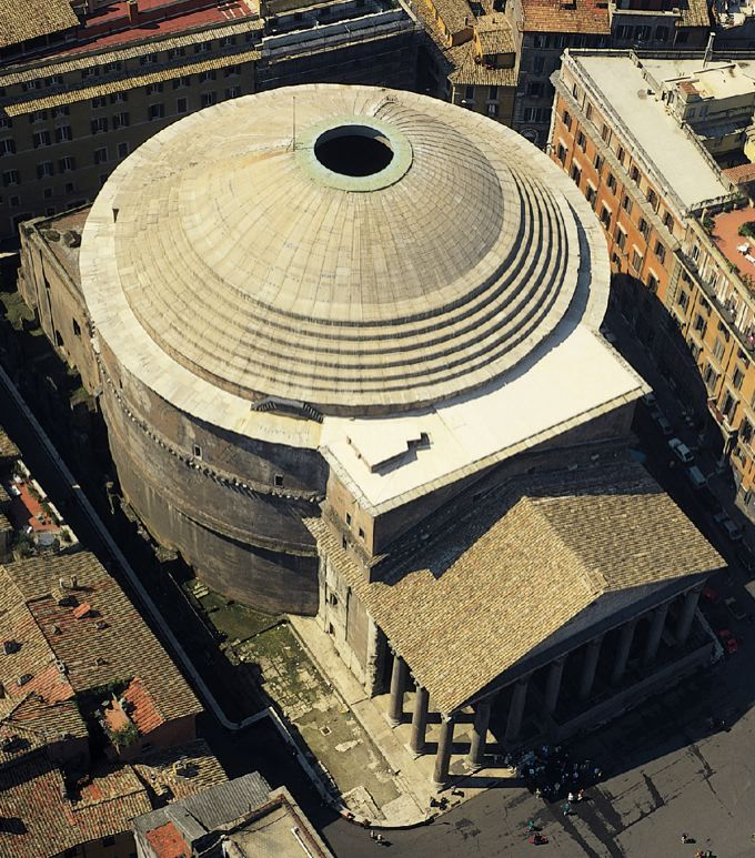 Pantheon (aerial view), Rome...most amazing creation of Roman architecture