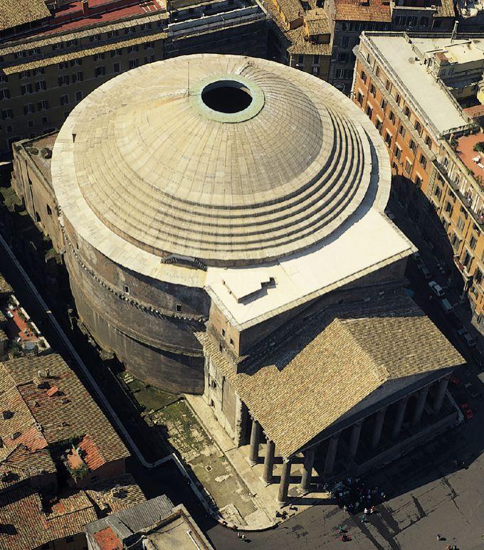 Panteon.Esta  maravilla  da  enxeñería  romana  foi edificada  polo  emperador…                                                                                                                                                                                 Más