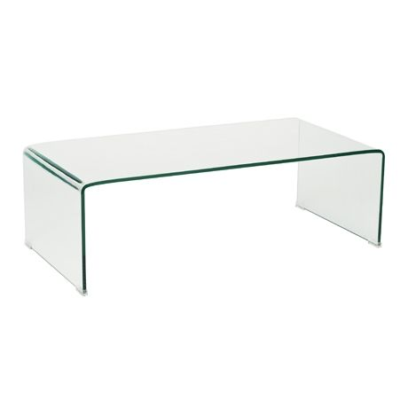 Ghost Coffee Table Rectangle Clear Glass | Freedom Furniture and Homewares