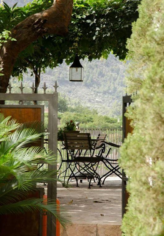 Backyard in Fornalutx, Mallorca, Balearic Islands, Spain