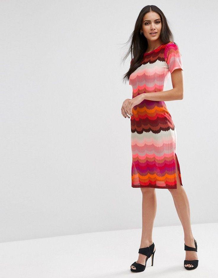 Image 1 ofASOS Rainbow Bright Pencil Dress