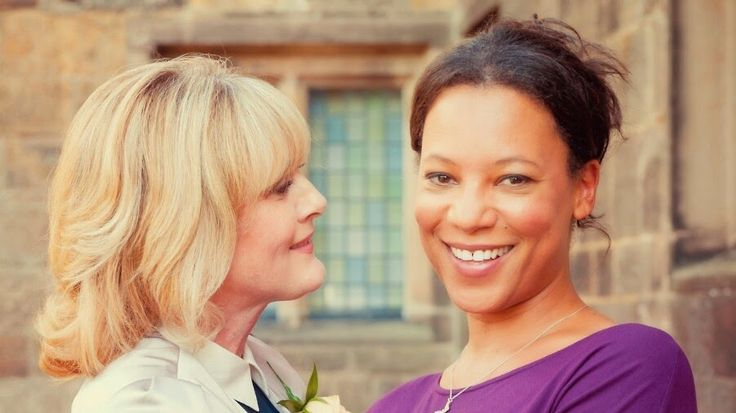Nina Sosanya as Kate and Sarah Lancashire as Caroline on Last Tango In Halifax
