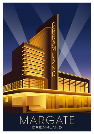 DREAMLAND MARGATE. Travel poster of the Art Deco by WhiteOneSugar